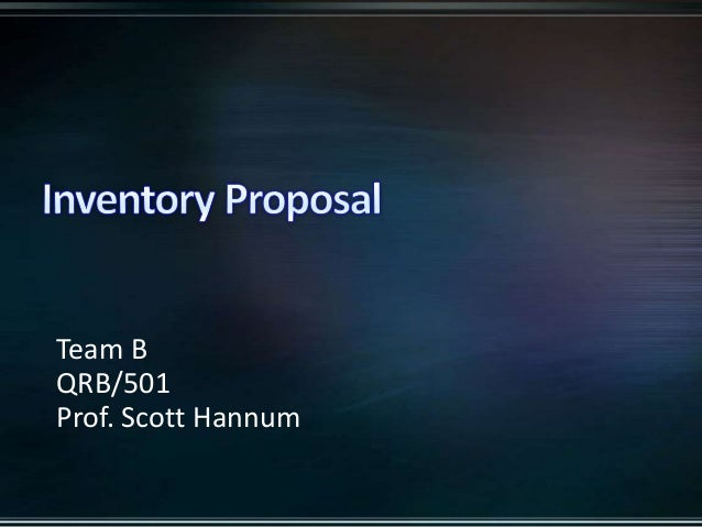 Team BQRB/501Prof. Scott Hannum