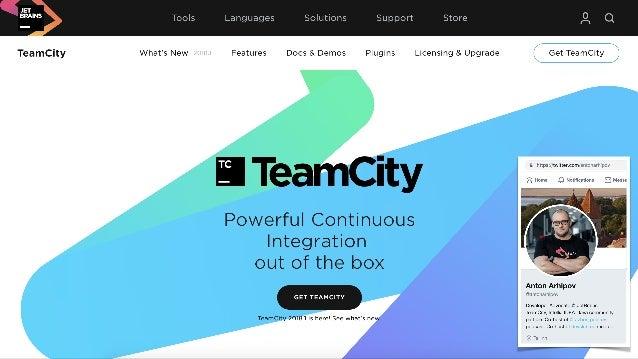 TeamCity @ JetBrains 2000+ projects 12000+ build configurations 500+ agents est 2006