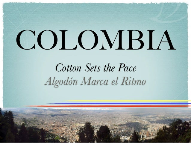 COLOMBIA   Cotton Sets the Pace Algodón Marca el Ritmo
