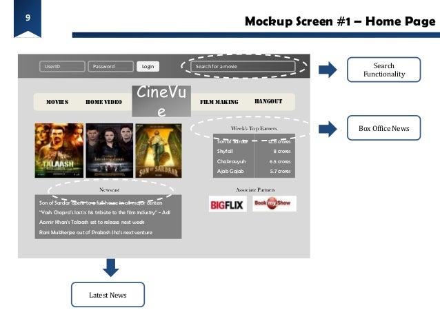 9                                                                                            Mockup Screen #1 – Home Page ...