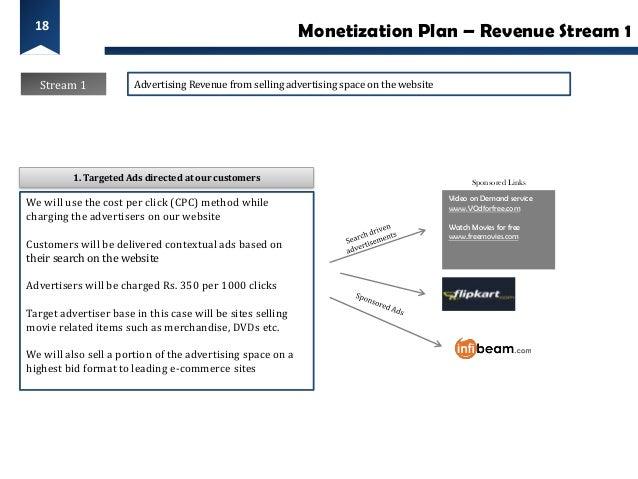 18                                                            Monetization Plan – Revenue Stream 1  Stream 1             A...