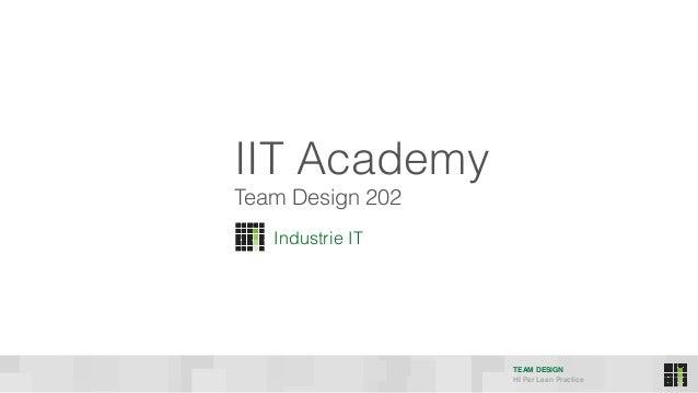 TEAM DESIGN HI Per Lean Practice Industrie IT Team Design 202 IIT Academy