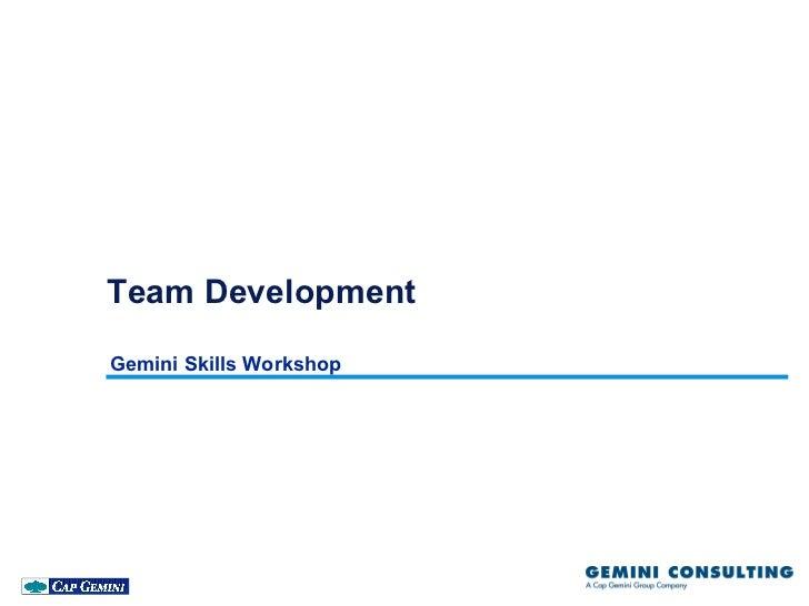 Team DevelopmentGemini Skills Workshop