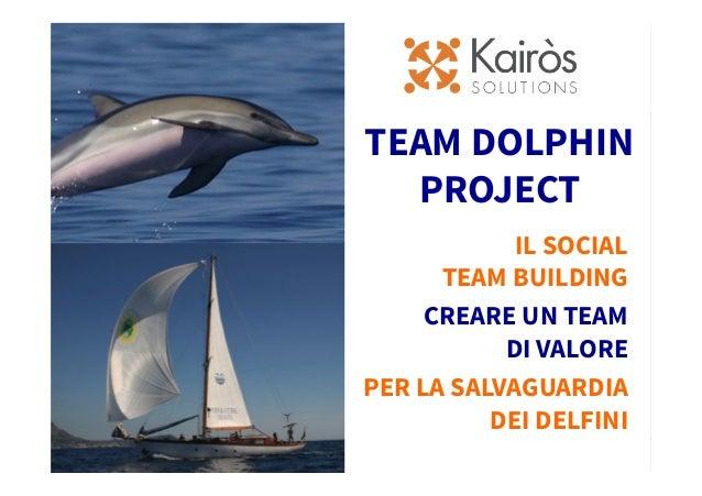 25-09-2012 Titolo presentazione 0 TEAM DOLPHIN PROJECT IL SOCIAL TEAM BUILDING CREARE UN TEAM DI VALORE PER LA SALVAGUARDI...
