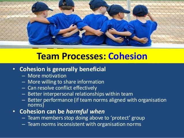 advantages of team cohesion
