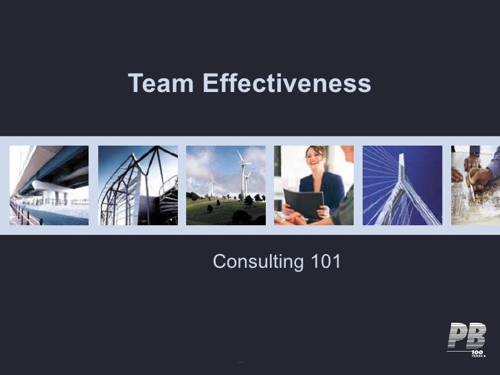 Team Effectiveness           Consulting 101