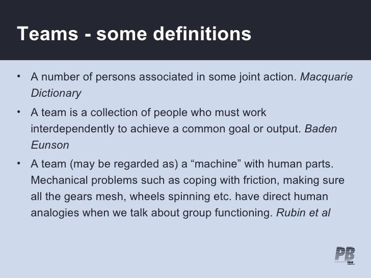 Team Definition Of Team At Dictionary Com >> Team Effectiveness