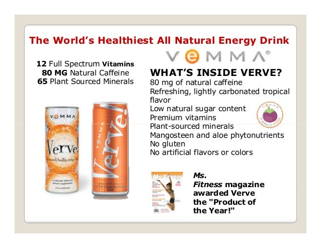 Verve energy drink business plan
