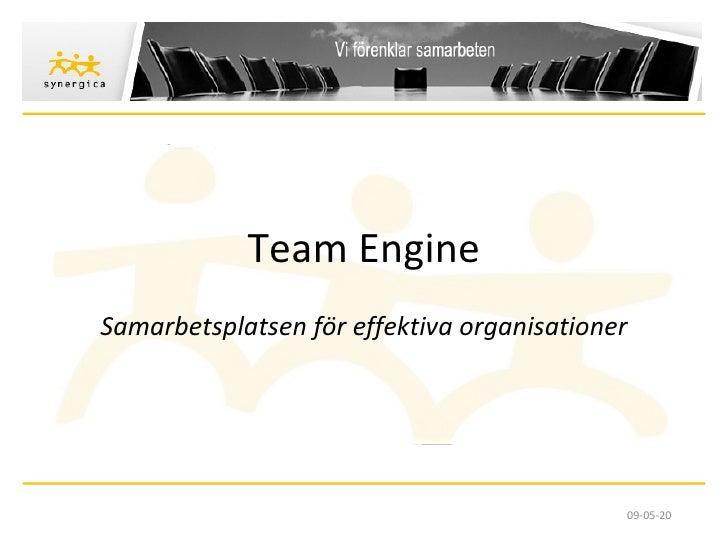 Team Engine Samarbetsplatsen för effektiva organisationer