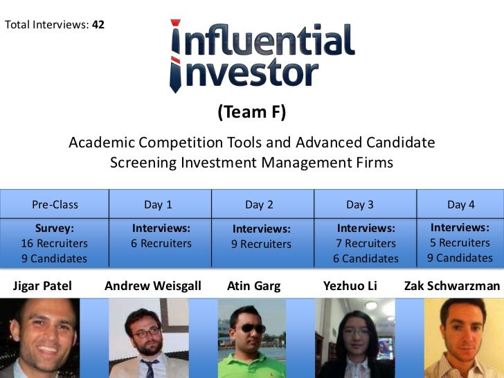 Total Interviews: 42                                      (Team F)            Academic Competition Tools and Advanced Cand...