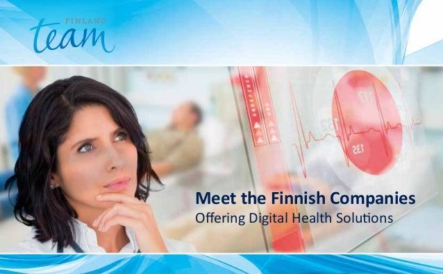Meet the Finnish Companies Offering Digital Health Solutions