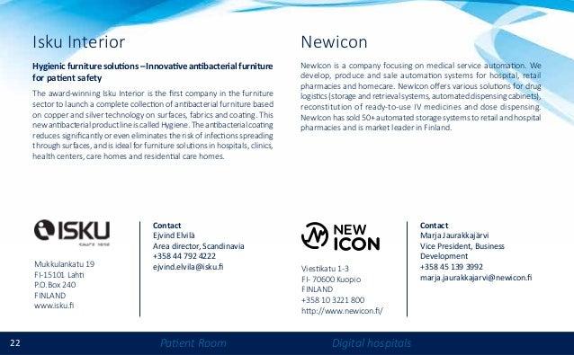 22 Patient Room Digital hospitals Isku Interior Hygienicfurnituresolutions–Innovativeantibacterialfurniture for patient sa...