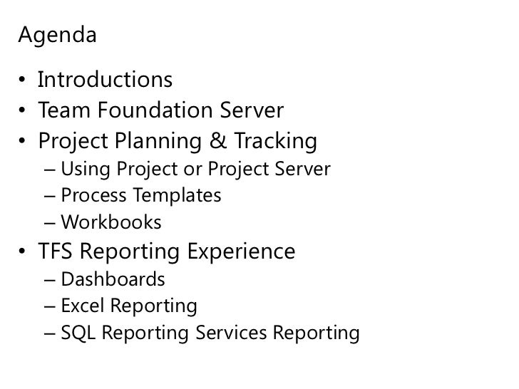 team foundation server process templates - team foundation server tracking reporting