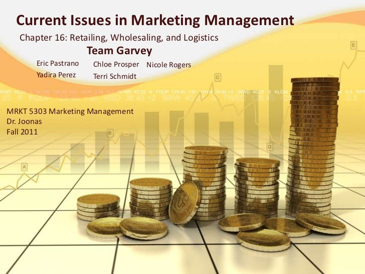 Current Issues in Marketing Management   Chapter 16: Retailing, Wholesaling, and Logistics                       Team Garv...