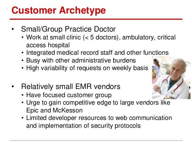 customer archetype  u2022 small  group practice
