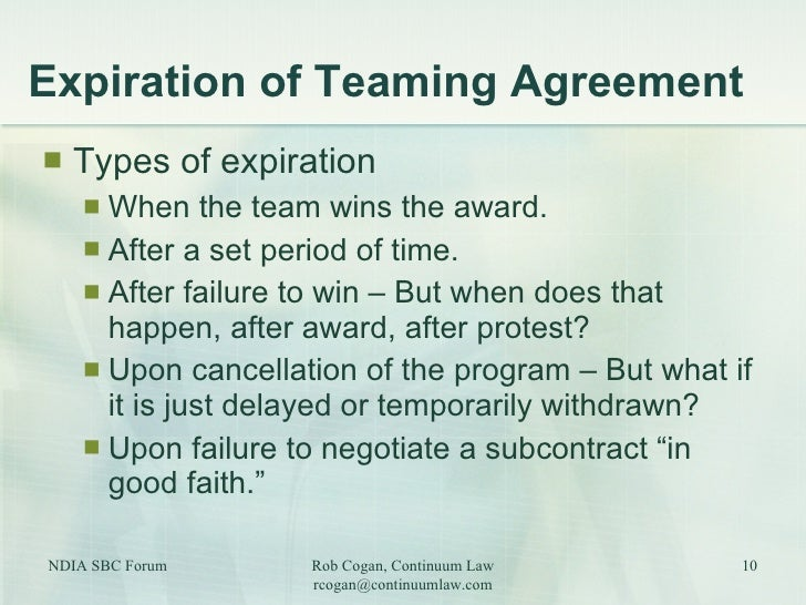New Contract Opportunities Through Teaming Agreements