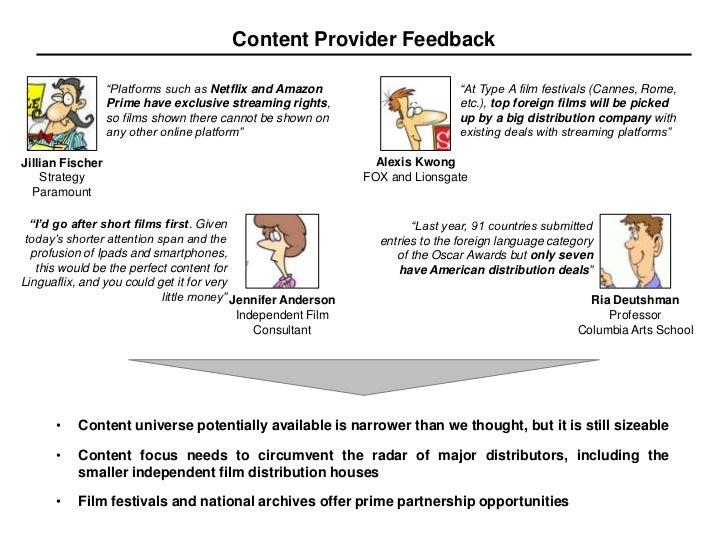"Content Provider Feedback ""Platforms such"