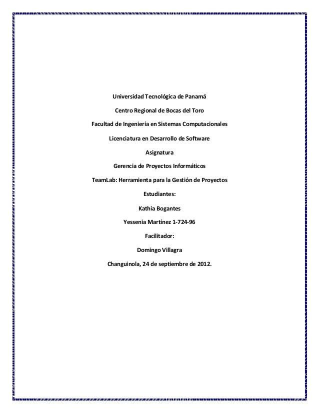 Universidad Tecnológica de Panamá Centro Regional de Bocas del Toro Facultad de Ingeniería en Sistemas Computacionales Lic...