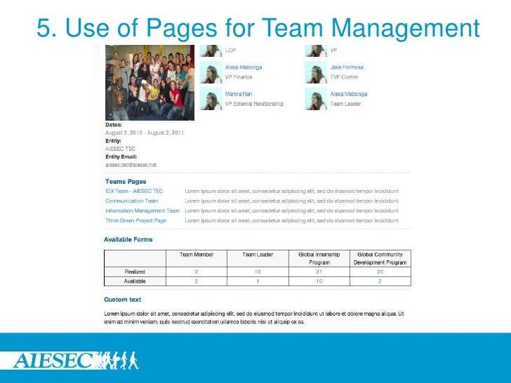 Team leader programme_management