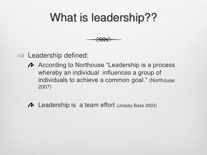 explain the concept of leadership