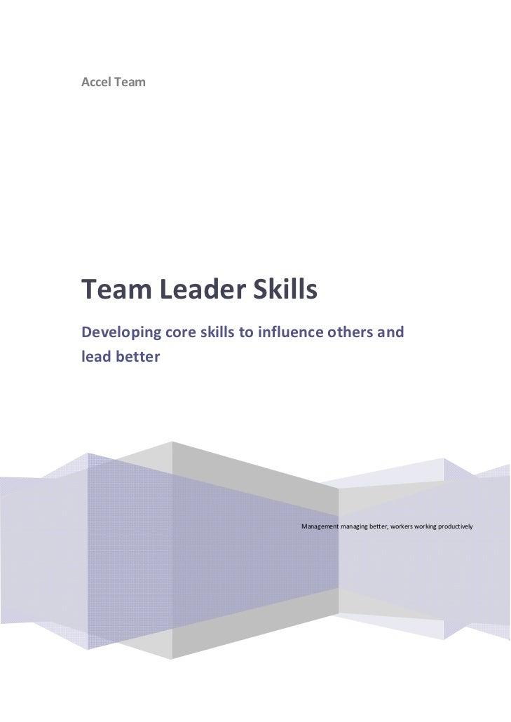 AccelTeam                         TeamLeaderSkills    Developingcoreskillstoinfluenceothersand    lea...