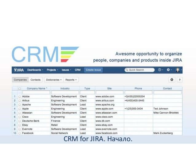 CRM for JIRA. Начало.
