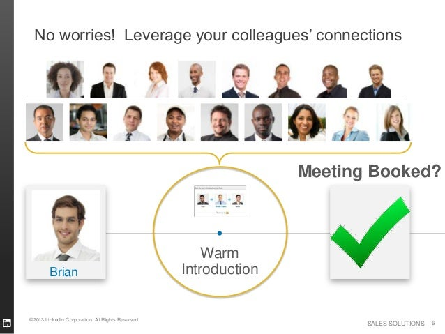 No worries! Leverage your colleagues' connections                                                                  Meeting...