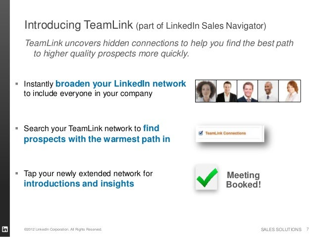 Introducing TeamLink (part of LinkedIn Sales Navigator)  TeamLink uncovers hidden connections to help you find the best pa...