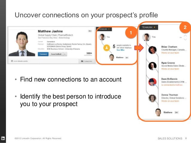 Uncover connections on your prospect's profile                                                                         2  ...