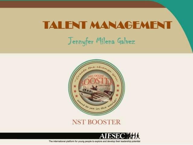 TALENT MANAGEMENT   Jennyfer Milena Galvez