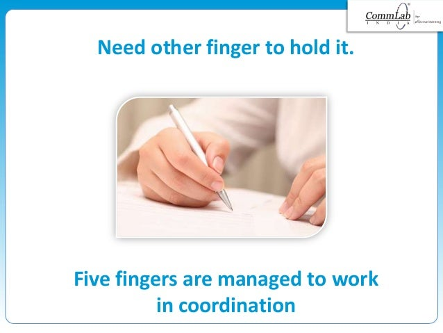 Need other finger to hold it. Five fingers are managed to work in coordination