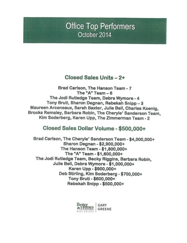 Team Meeting Agenda Notes - November 11Th, 2014 | Bhgre Gary Greene, …