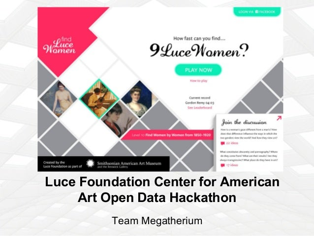 Luce Foundation Center for American Art Open Data Hackathon Team Megatherium