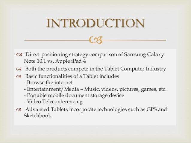 samsung position strategy