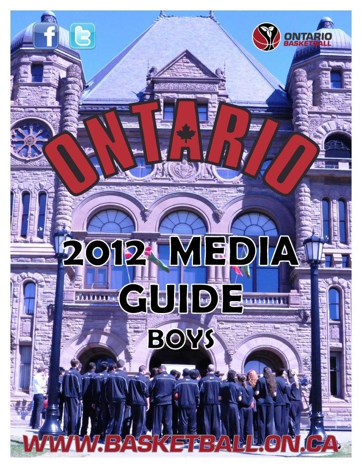 2012 MEDIA  GUIDE   BOYS