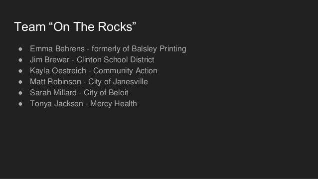 Team On The Rocks presentation - LDA Class of 2020 Slide 2