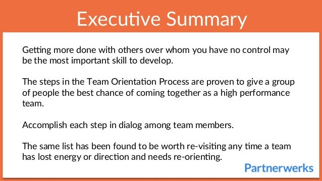 Team Orientation Process Slide 2