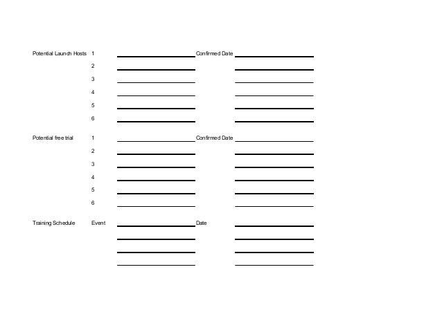Team planning activity sheet
