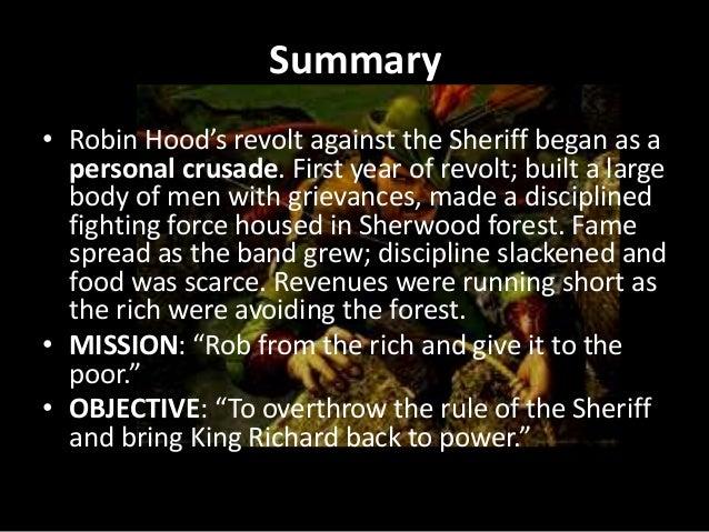 Robin hood summary