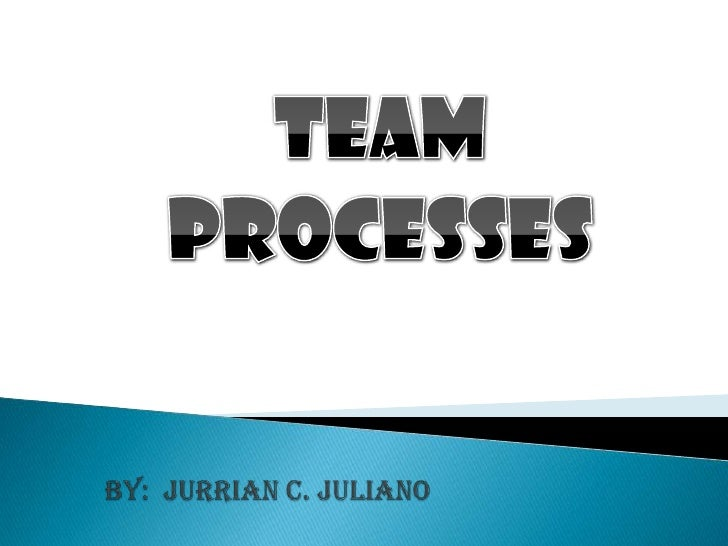 TEAM<br />PROCESSES<br />by:  jurrian c. juliano<br />