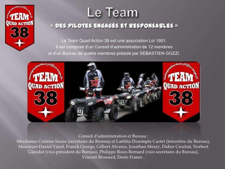 Team quad action 38 press and partners for 2012 - Difference entre conseil d administration et bureau ...