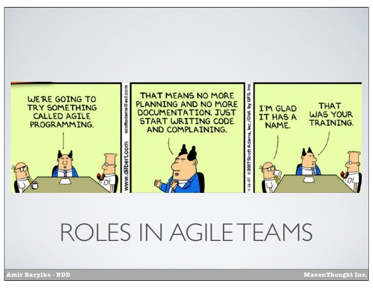 ROLES IN AGILE TEAMSAmir Barylko - BDD               MavenThought Inc.