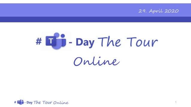 Online Online 29. April 2020 1