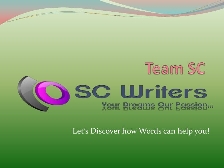 Let's Discover how Words can help you!