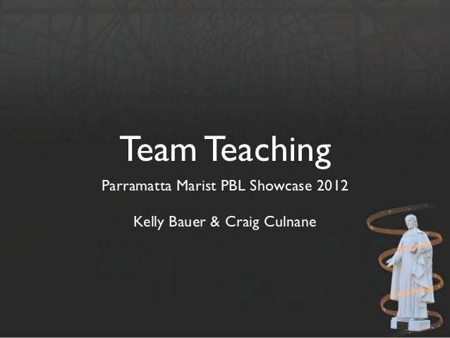 Team TeachingParramatta Marist PBL Showcase 2012    Kelly Bauer & Craig Culnane