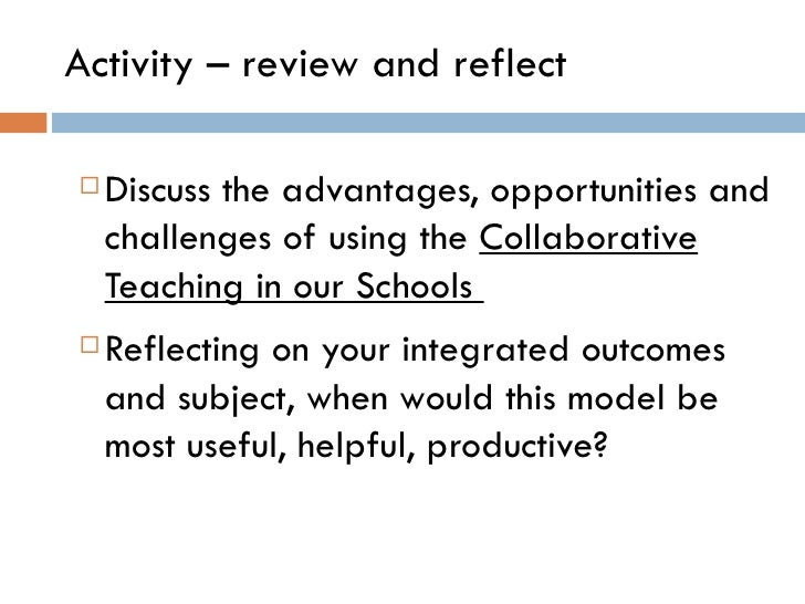 Collaborative Review Teaching : Team teaching collaborative