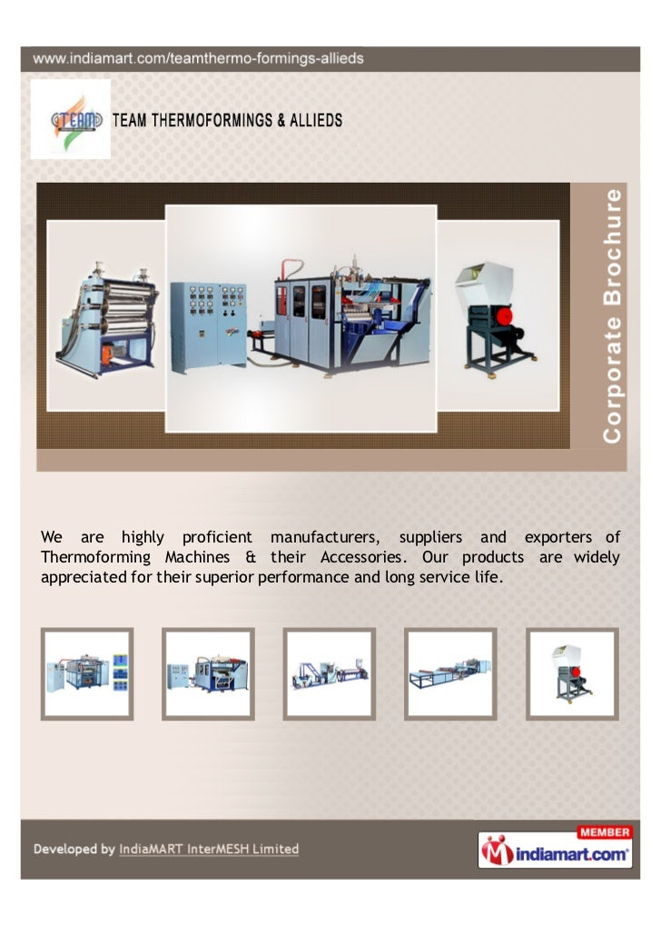 We are highly proficient manufacturers, suppliers and exporters ofThermoforming Machines & their Accessories. Our products...