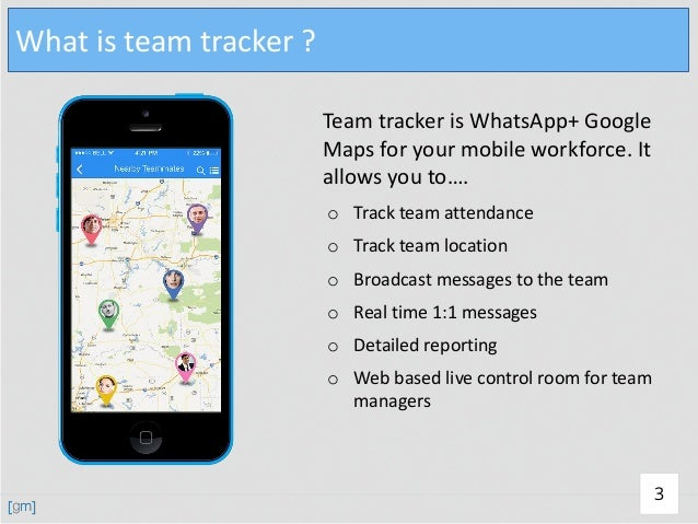 Tracking app for ios and android