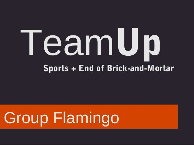 TeamUp Sports + End of Brick-and-Mortar  Group Flamingo