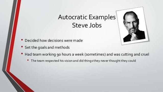 Steve jobs as an example of a great leader